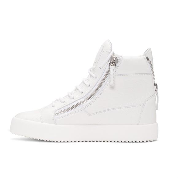 541a5518de53e Giuseppe Zanotti Shoes   New Nicki White Hi Top Sneakers   Poshmark